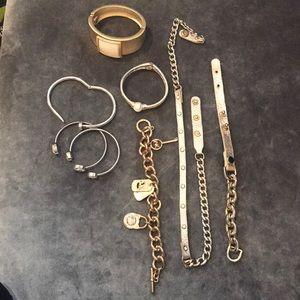 Bundle of gold trendy bracelets!